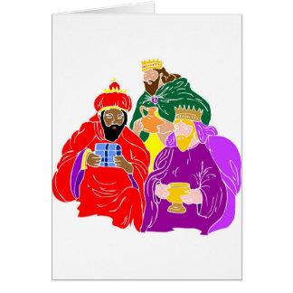 Three wisemen Christian artwork Card