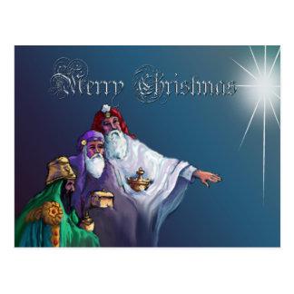 THREE WISEMEN & STAR by SHARON SHARPE Postcard