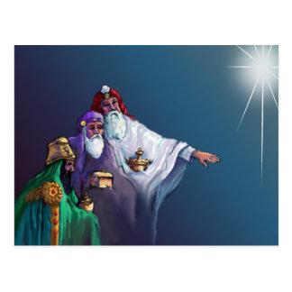 THREE WISEMEN STAR by SHARON SHARPE Post Cards