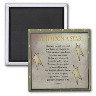 Three Wishes 2 Inch Square Magnet