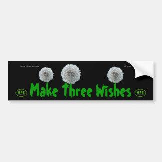 Three Wishes Bumper Sticker