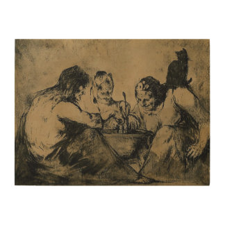 Three Witches brew Wood Print