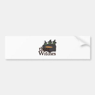 Three Witches Car Bumper Sticker