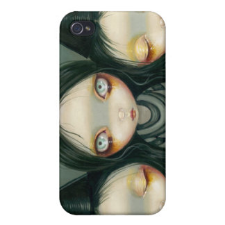 """""""Three Witchy Sisters"""" iPhone 4 Case"""