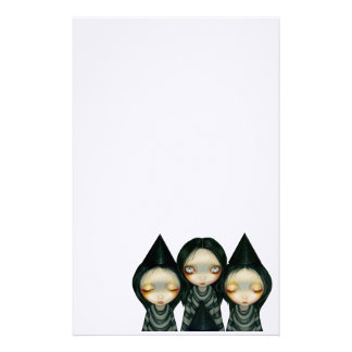 """""""Three Witchy Sisters"""" Stationery"""