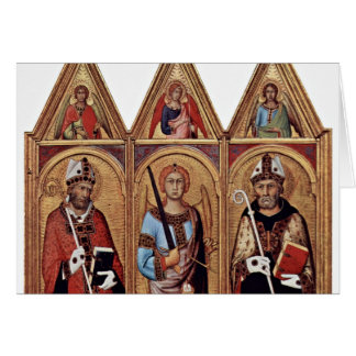 Three With Holy Angels In Each Gable, From Left: Greeting Card