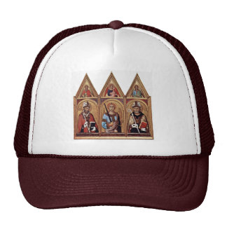 Three With Holy Angels In Each Gable, From Left: Mesh Hat