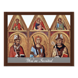 Three With Holy Angels In Each Gable, From Left: Custom Invitation