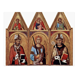 Three With Holy Angels In Each Gable, From Left: Postcard