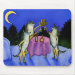 Three Wolves in Snow Mousepads