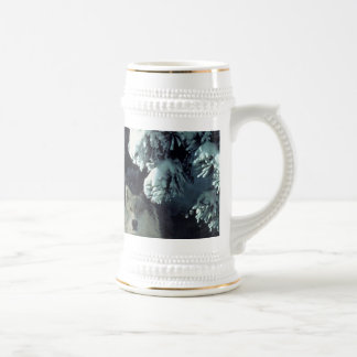 Three Wolves in the Woods Stein