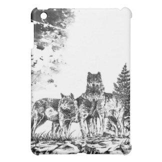 Three Wolves iPad, iPod, iPhone case design Case For The iPad Mini