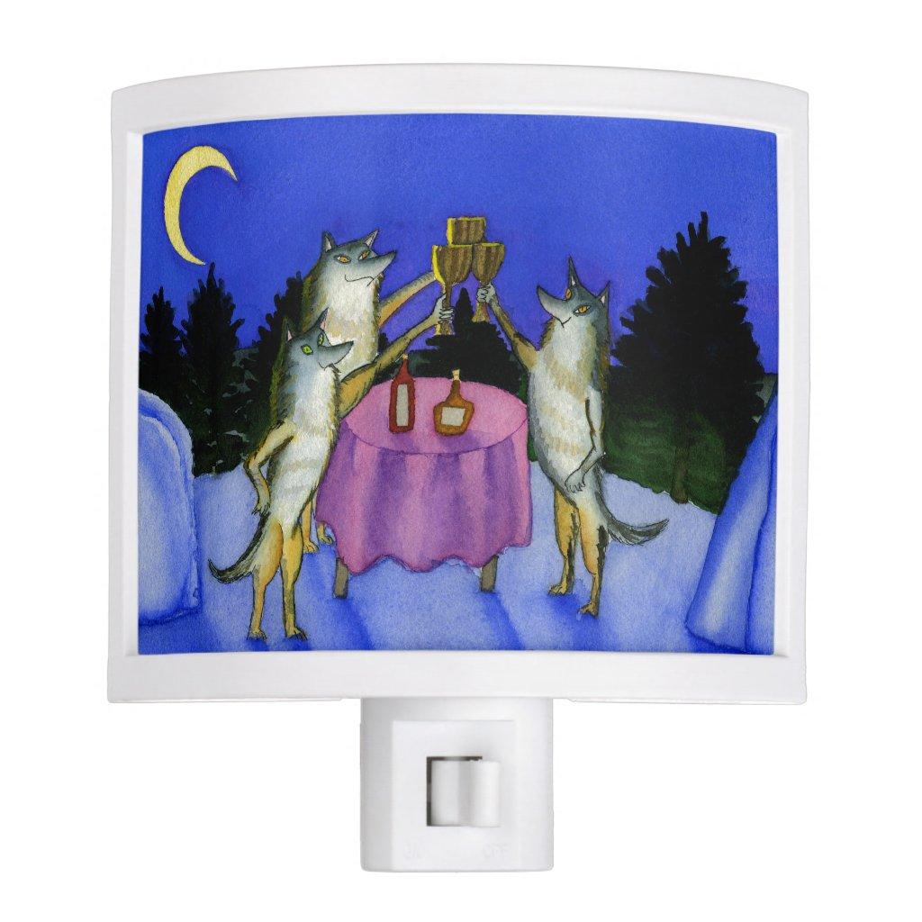 Three Wolves Night Light