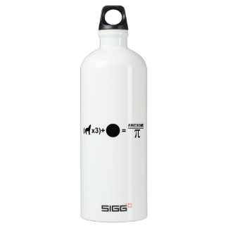 Three wolves one moon equals awesomeness on Pi Aluminum Water Bottle