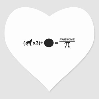 Three wolves one moon equals awesomeness on Pi Heart Sticker