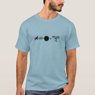 Three wolves one moon equals awesomeness on Pi T-Shirt