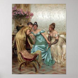 Three Woman at a Ball Poster