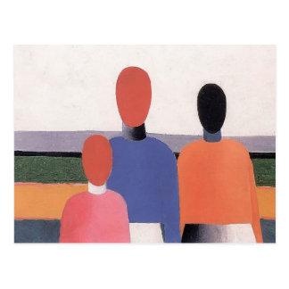 Three Woman Figures by Kazimir Malevich Postcard