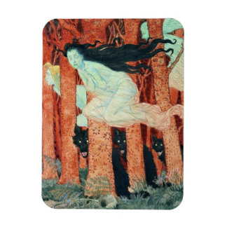 Three Women and Three Wolves (w/c) Magnet