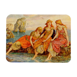 Three Women Cooling Their Feet in the Sea, Magnet