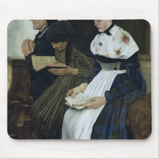 Three Women in Church, 1882 Mouse Pad