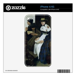 Three Women in Church, 1882 Decals For iPhone 4S
