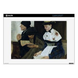 Three Women in Church, 1882 Skin For Laptop