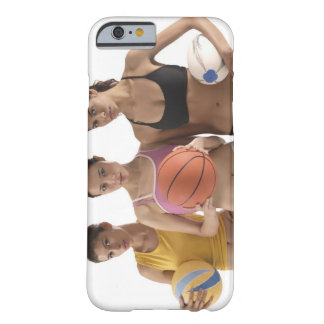 three women of different race, holding barely there iPhone 6 case