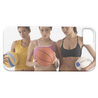 three women of different race, holding iPhone SE/5/5s case