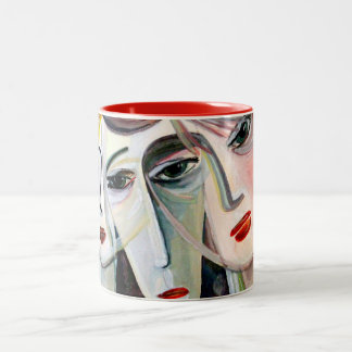 three women Two-Tone coffee mug