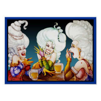 Three Women with Big Hair Poster