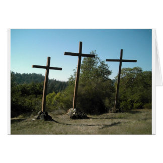 Three Wooden Crosses Card