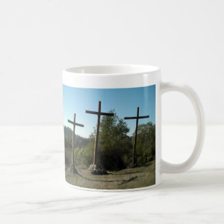 Three Wooden Crosses Coffee Mug