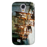 Three Wooden Rocking Chairs on Sunny Porch Galaxy S4 Cover