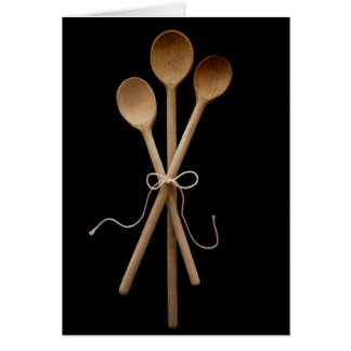 Three Wooden Spoons Greeting Card