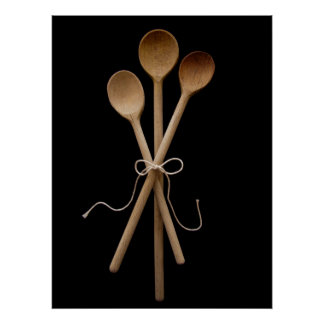 Three Wooden Spoons Poster