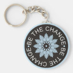 Three Word Quotes ~Be The Change~ Keychains