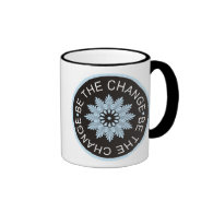 Three Word Quotes ~Be The Change~ Ringer Coffee Mug