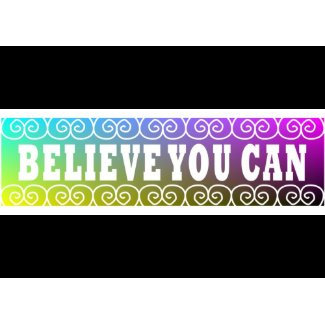 Three Word Quotes ~Believe You Can~ Card card