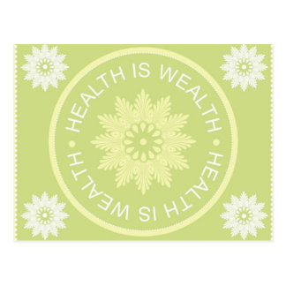 Three Word Quotes ~Health Is Wealth~ Postcard