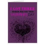 Three Words Valentine's Day Card