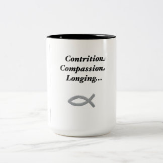 Three wounds Two-Tone coffee mug