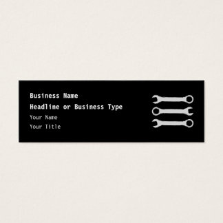 Three Wrenches. Gray and Black. Mini Business Card