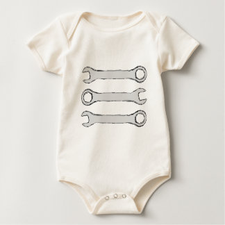 Three Wrenches. Gray and Black. Bodysuit