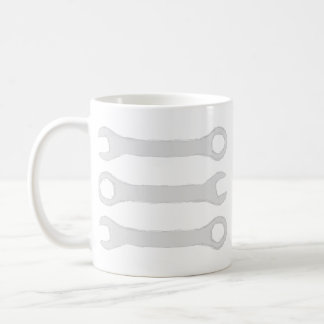 Three Wrenches in Light Gray. Coffee Mug