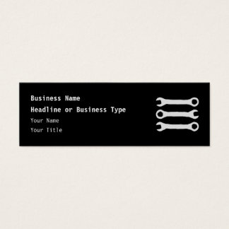 Three Wrenches in Light Gray. Mini Business Card