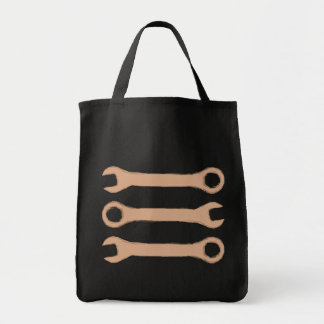 Three Wrenches. Tools. Brown. Canvas Bags