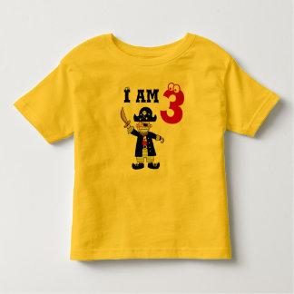 Three year old birthday boy ( pirate ) toddler t-shirt