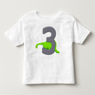 Three Year Old Green Dinosaur 2 Toddler T-shirt
