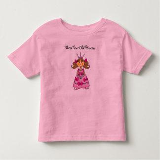 Three Year Old Princess Toddler T-shirt